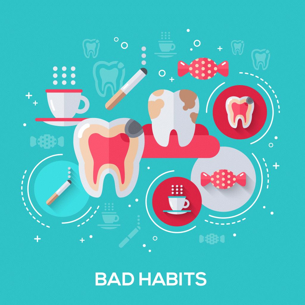 1 - عادت هایی که به دهان و دندان آسیب میزنند